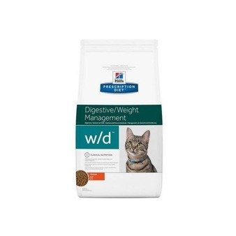 Karma sucha Hill's Prescription Diet Digestive/Weight Management w/d Feline z kurczakiem 5kg