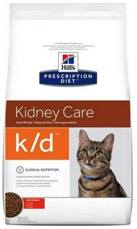 Karma sucha Hill's Prescription Diet Kidney Care k/d Feline z kurczakiem 1,5kg