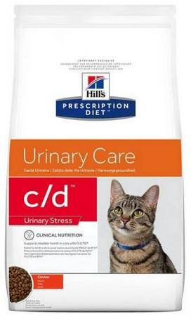 Karma sucha Hill's Prescription Diet Urinary Care c/d Feline Urinary Stress z kurczakiem 4kg