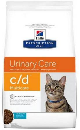 Karma sucha Hill's Prescription Diet Urinary Care c/d Feline z Rybami Morskimi 1,5kg