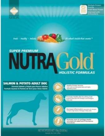 Karma sucha Holistic Salmon & Potato Adult Dog Nutra Gold 15kg