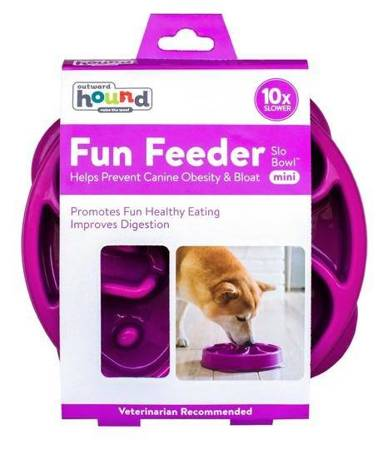 Outward Hound Fun Feeder Mini Miska fioletowa [51005]